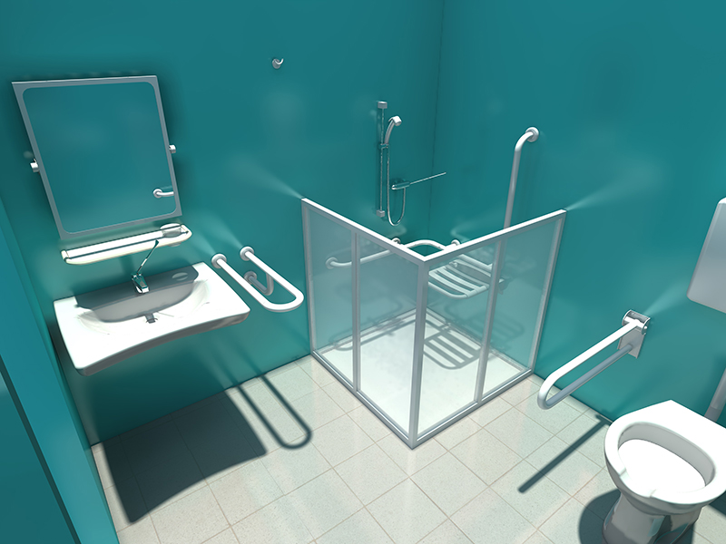 Baño Minimo Minusvalidos:Shower Accessories for Disable