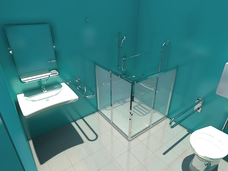 Soporte Baño Minusvalidos:American Standard Toilet CAD Drawing
