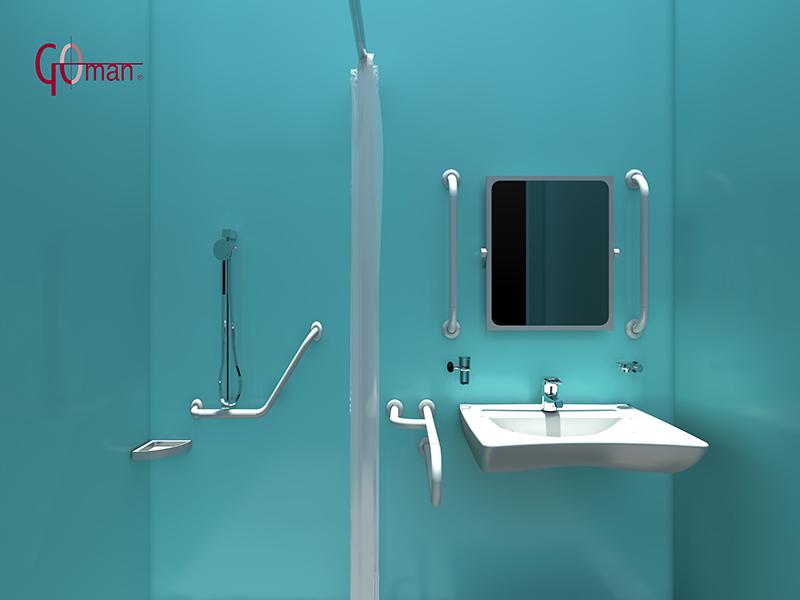 Baño De Minusvalidos:Eye Wash CAD DWG