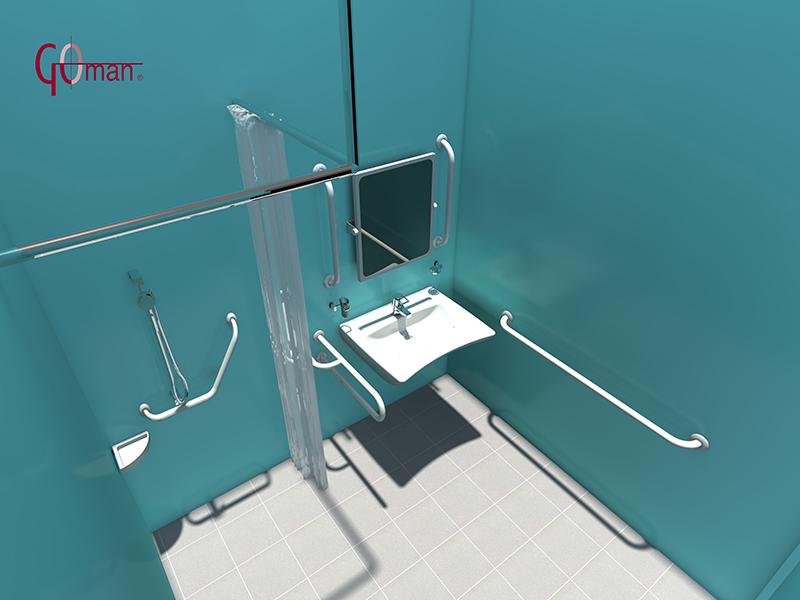 Soporte Baño Minusvalidos:Diseño DWG en 3D de baños para minusvalidos