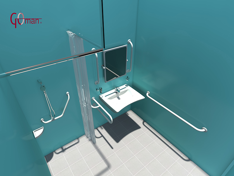 Baño De Minusvalidos:Diseño DWG en 3D de baños para minusvalidos