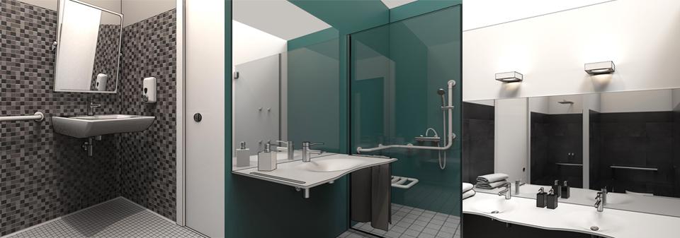 Diseño DWG en 3D de baños